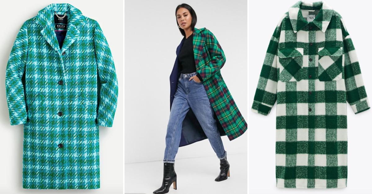 Green checked coats