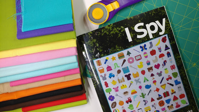I Spy quilt book with 100 paper pieced quilt block patterns
