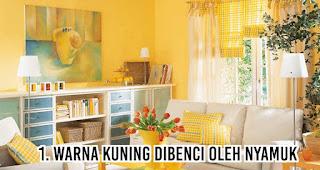 Warna kuning Dibenci Oleh Nyamuk
