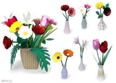 6 Flores japonesas minimalistas con plantillas origami
