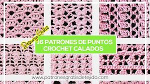 16 Patrones de Puntos Calados a Crochet
