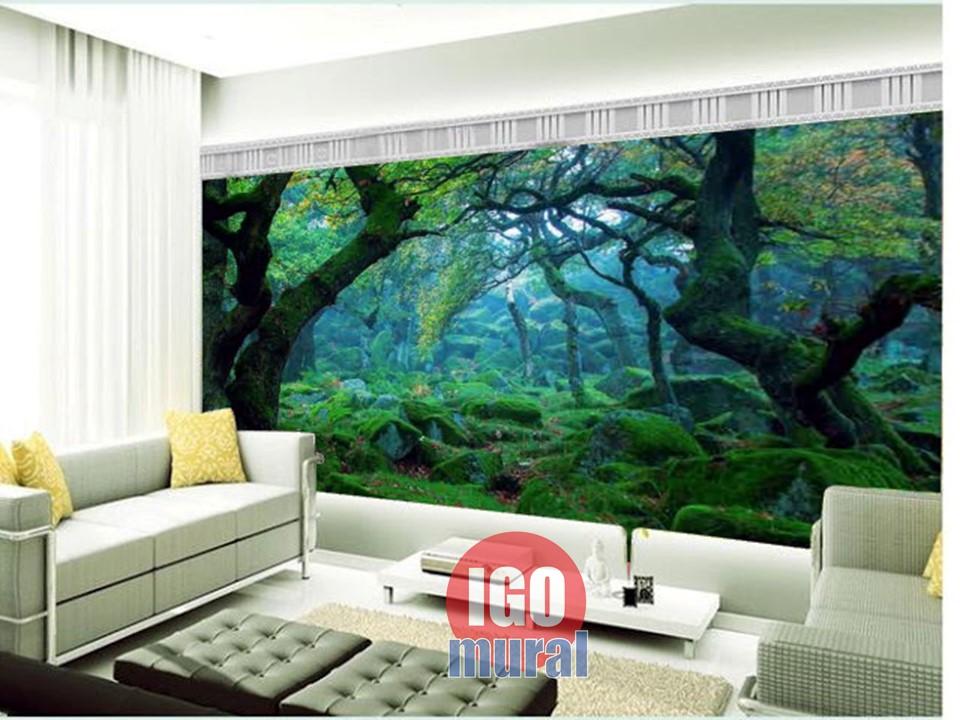 Wallpaper Dinding tema Hijau