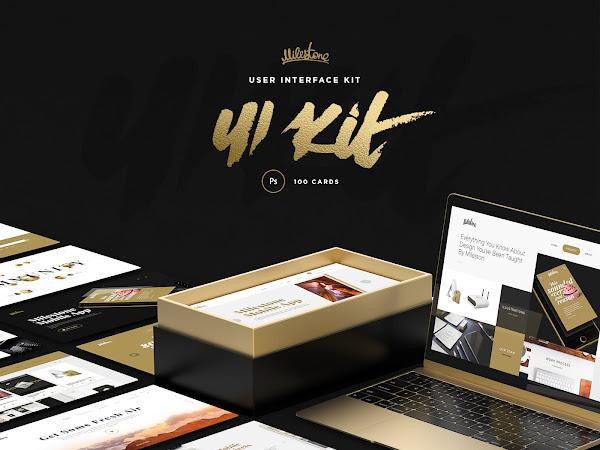 Download Milestone UI Kit Free