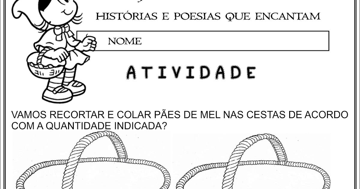 Atividade Chapeuzinho Vermelho Corte E Recorte Educativo