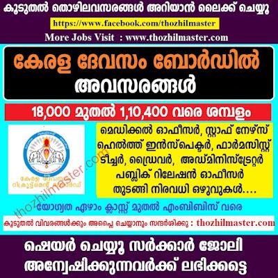 Kerala Devaswom Board Various Vacancies,7th-MBBS Can Apply