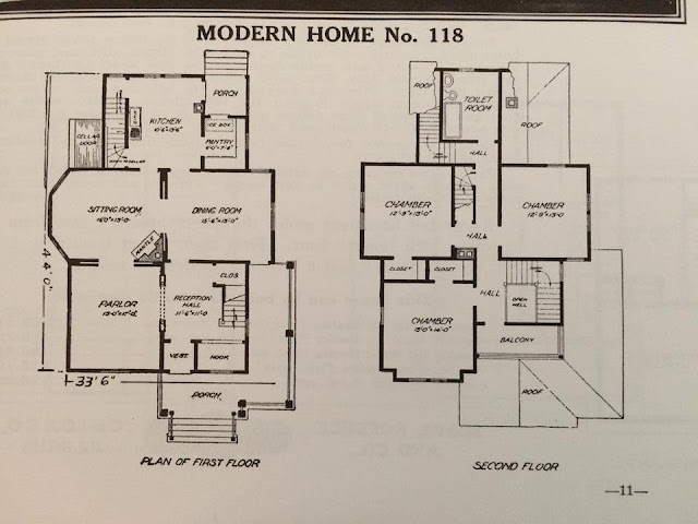 Floor plan of Sears Modern Home No. 118