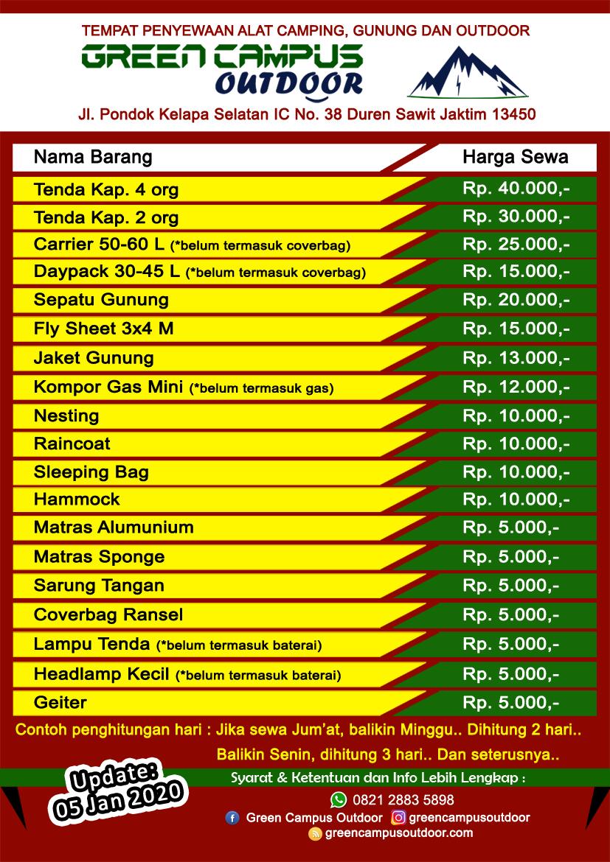 Profil Sewa Alat Outdoor Jakarta