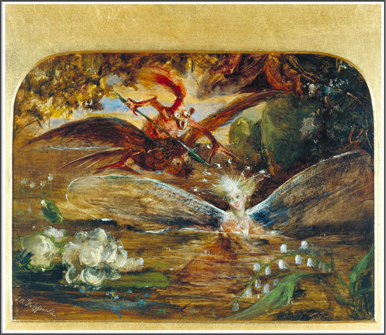 Mary Chaplin Artiste Peintre le prince lointain: john anster fitzgerald (1819-1906), the
