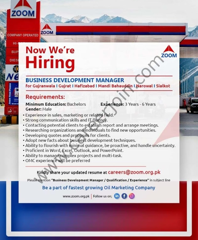 ZOOM Pakistan Latest  Jobs September 2021