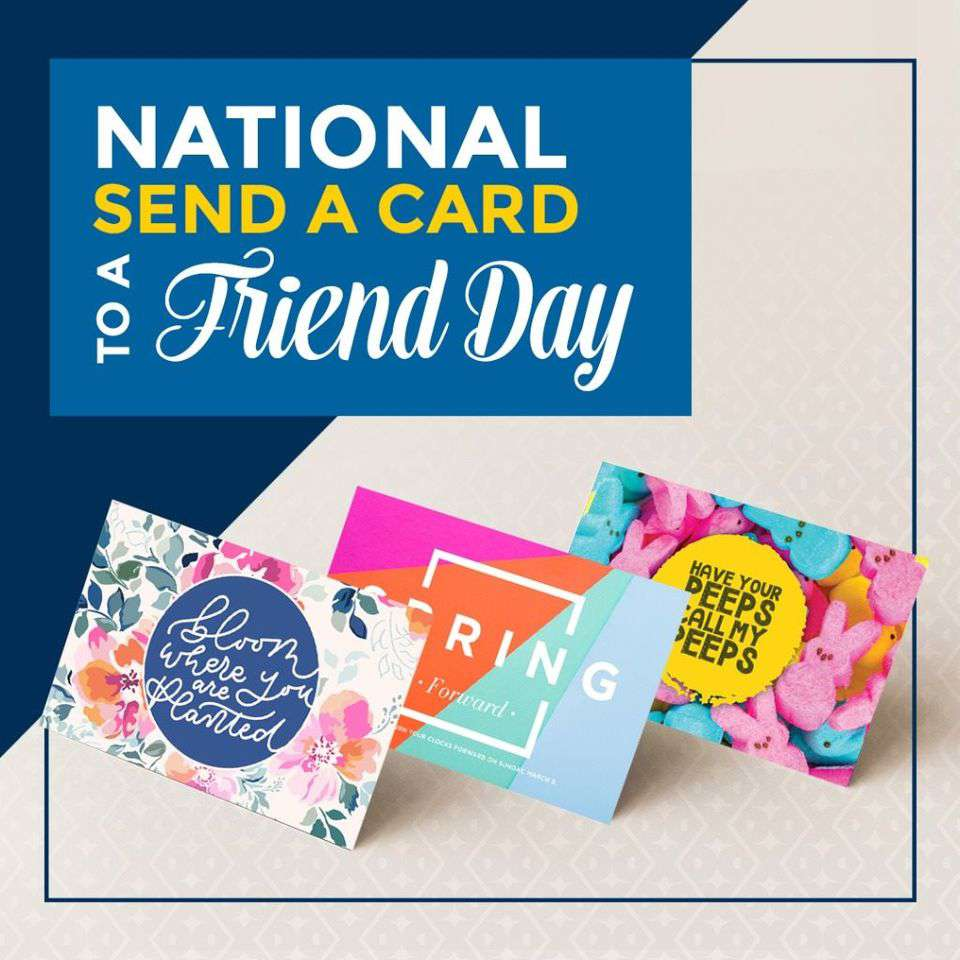 National Send a Card to a Friend Day Wishes