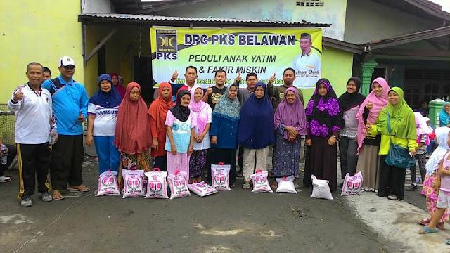 PKS Medan Belawan Gelar Senam Nusantara Peduli Anak Yatim dan Fakir Miskin
