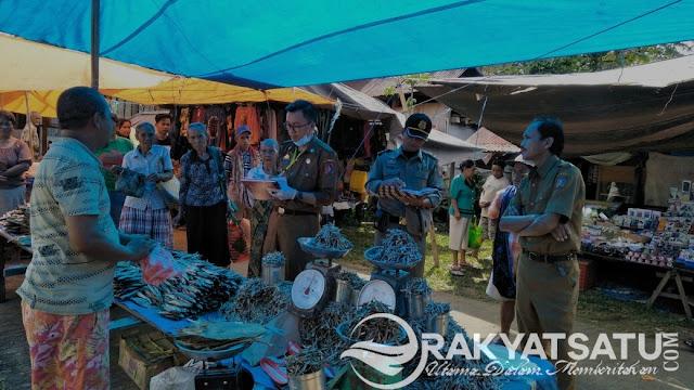 Duhh! Sebanyak 89,9 Kg Ikan Lure dan Kandilo' Berformalin di Pasar Sangalla', Disita