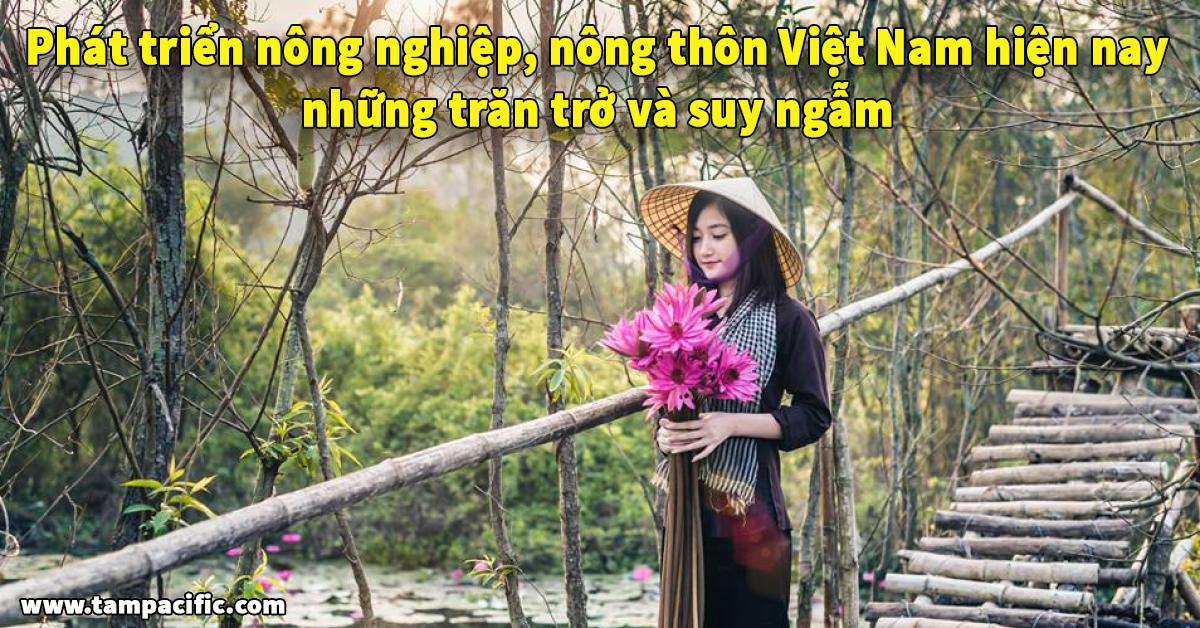 Phát triển nông nghiệp nông thôn Việt Nam hiện nay những trăn trở và suy ngẫm