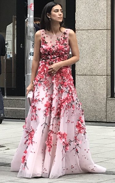 Princess Marie Chantal and Pippa Middleton wore Erdem Kenzie dress. Beatrice Borromeo, Tatiana Santo Domingo, Charlotte Casiraghi, Princess Alexandra, Prince Christian, Alessandra de Osma