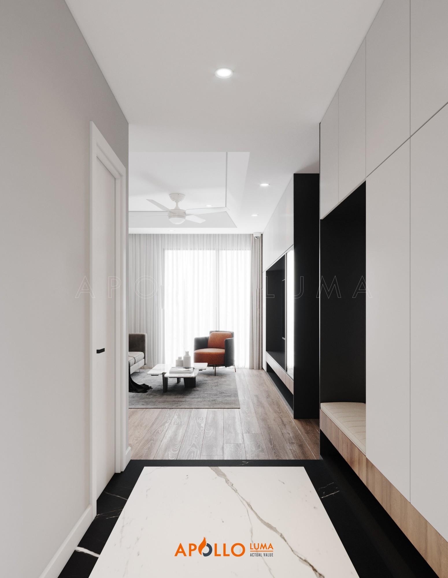 Thiết kế nội thất căn 3PN (99.25m2) Imperia Sky Garden