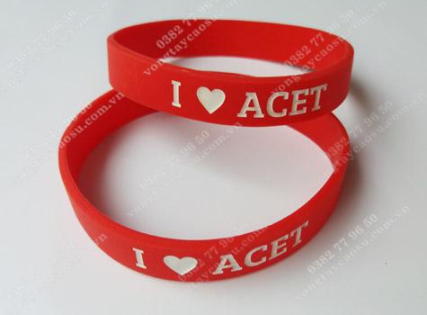 Vòng tay cao su I LOVE ACET