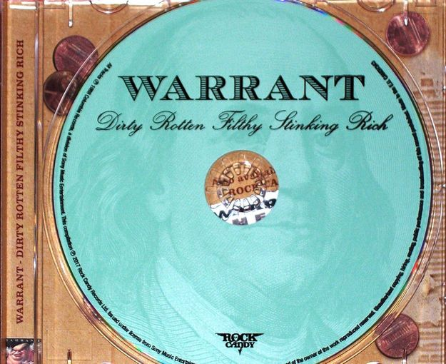 WARRANT - Dirty Rotten Filthy Stinking Rich [Rock Candy remastered] (2017) disc