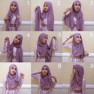 Jilbab Pashmina Bahan Ceruti Hijabfest