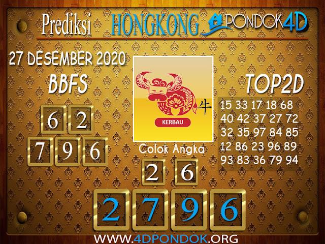 Prediksi Togel HONGKONG PONDOK4D 27 DESEMBER 2020