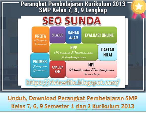 Unduh, Download Perangkat Pembelajaran SMP Kelas 7, 6, 9 Semester 1 dan 2 Kurikulum 2013