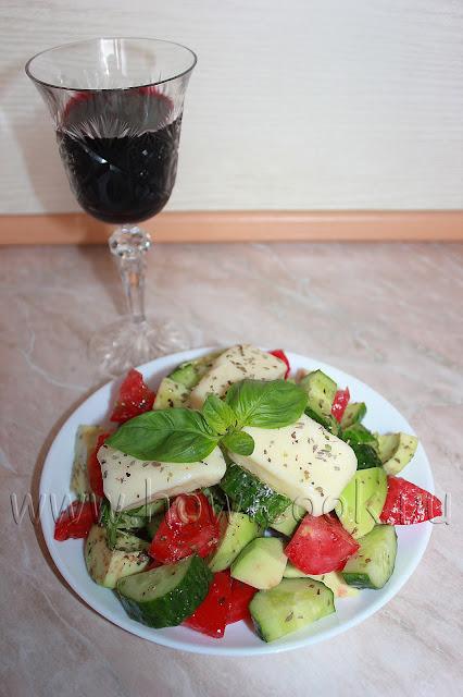 рецепт салата с жареным халуми с пошаговыми фото