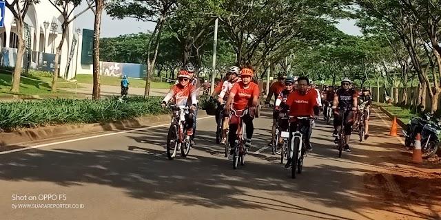 Gebyar Hut Kota Tangerang Selatan ke 10 Gandeng Telkom grup dan EVP TR 2 Jakarta Ajak Gowes bersama