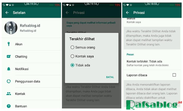 cara menyembunyikan read di whatsapp