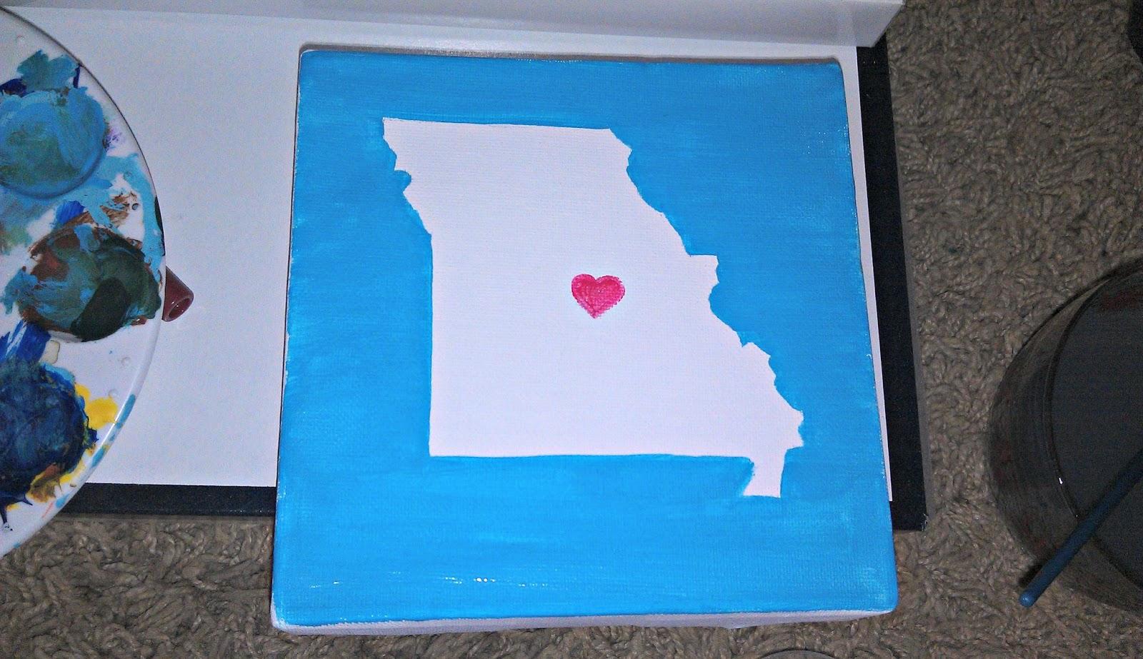 Blue Canvas Art Diy: The Generation To Create: DIY Missouri Canvas Art