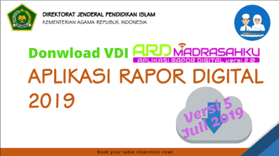 Alternatif Download VDI ARD ( Aplikasi Raport Digital ) Semester Gasal Tahun 2019/2020