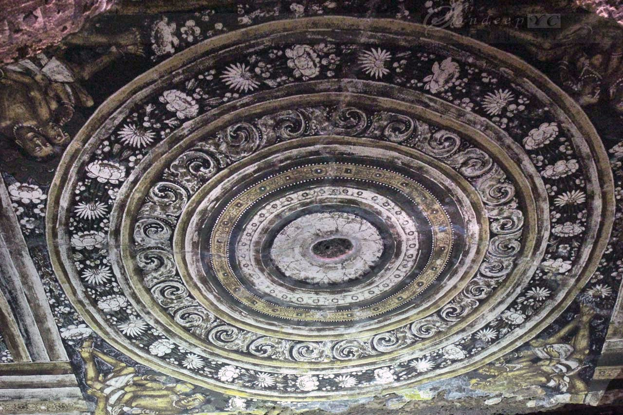 Amazing art on the ceilings