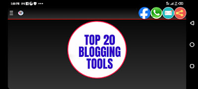 Horizontal view of the Blogging tools by Teemikemedia