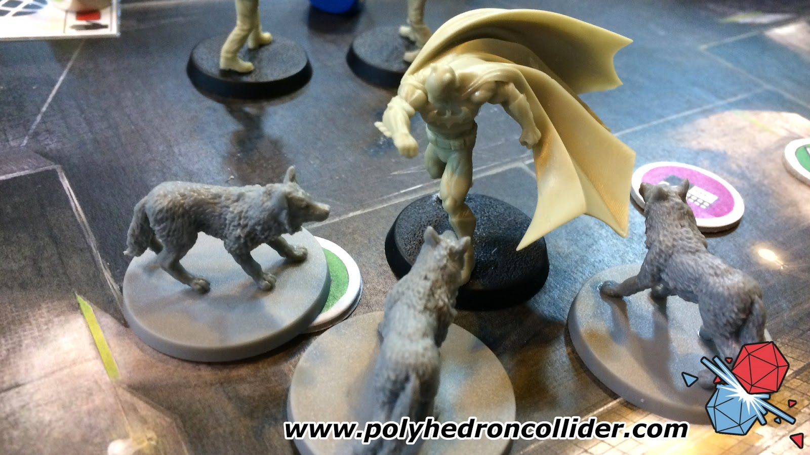Batman the Boardgame punching dogs