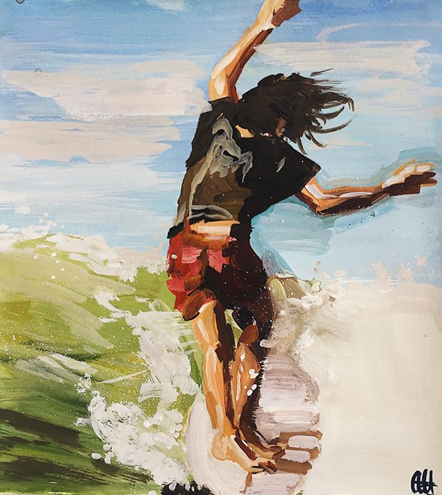 El surf expresionista de Abri Racheal