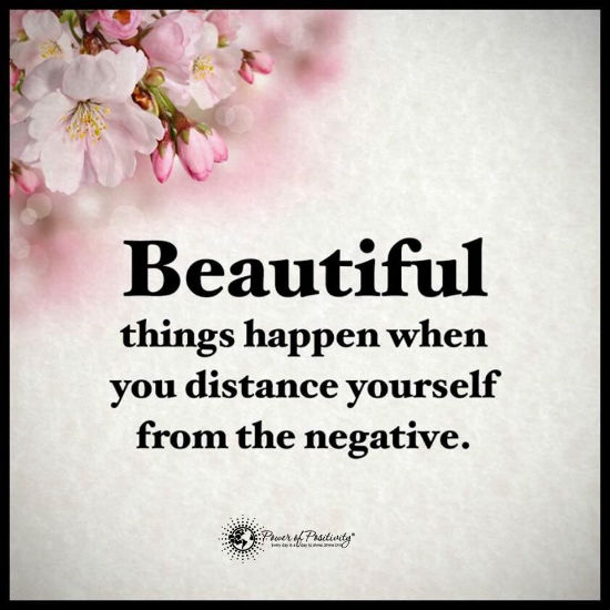 Beautiful things happen when you distance yourself from the ...