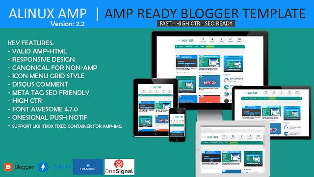 Free AMP html blogger theme
