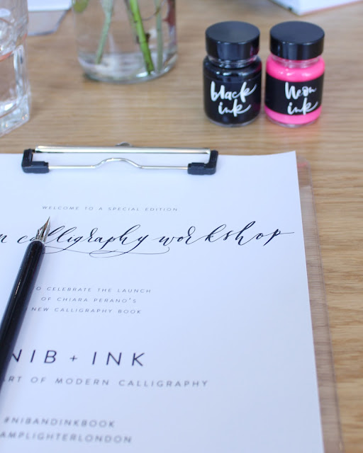 modern calligraphy workshop, nib and ink book