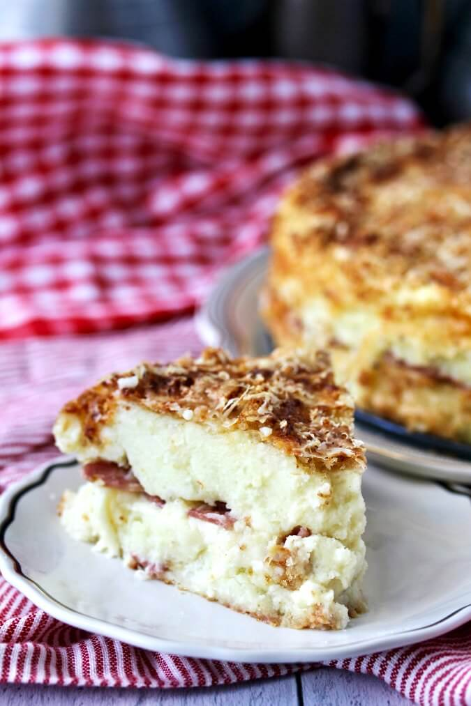 Italian Potato Cake slice