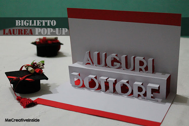 tutorial me creative inside diy biglietto laurea pop-up