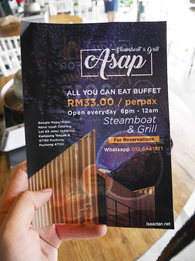 All you can eat buffet for only RM33/pax ? Wow