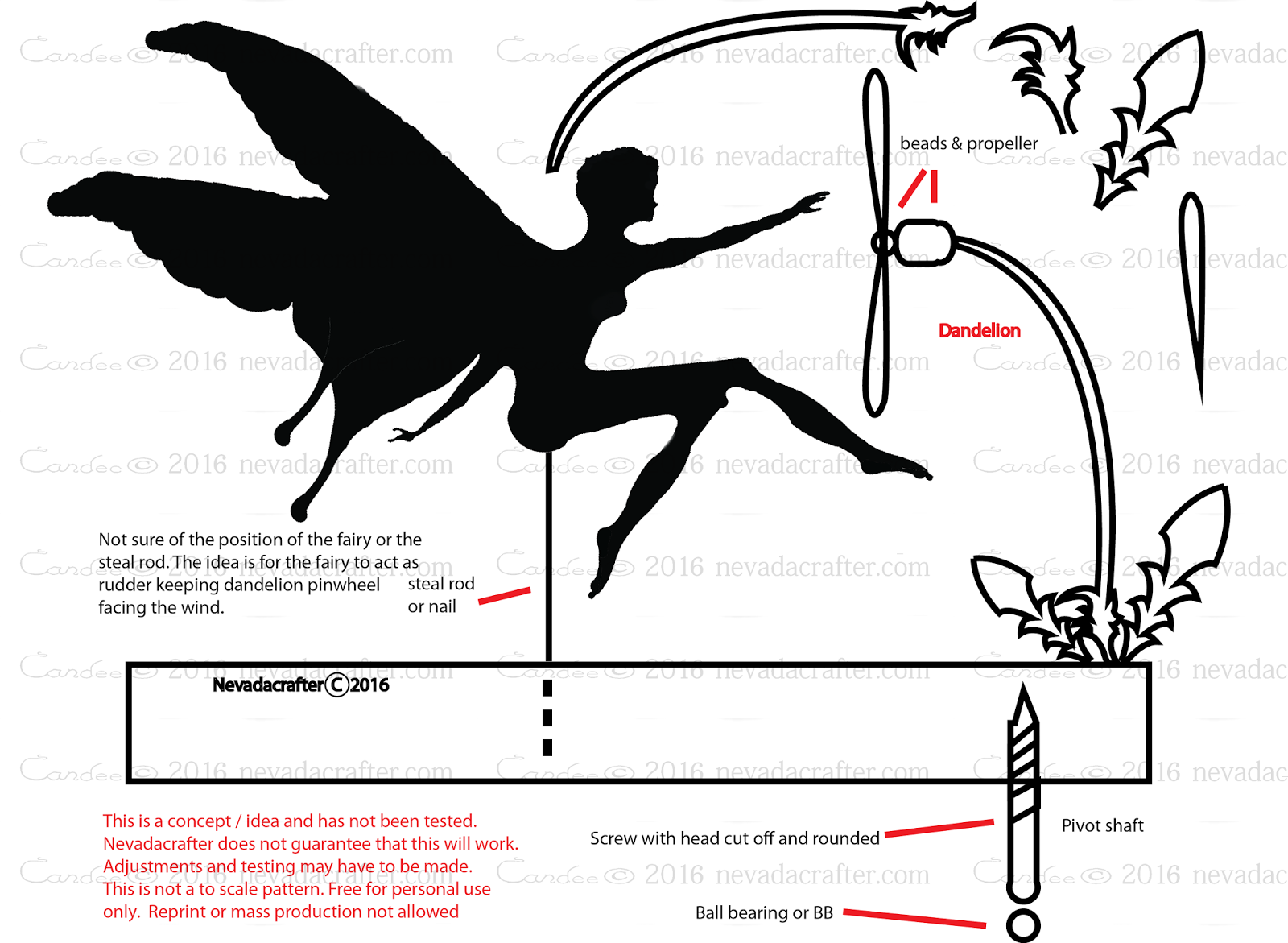 Free Patterns and ideas: Fairy whirligig / weathervane concept