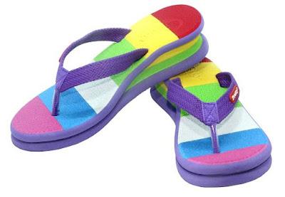 Sandal Pretty pelangi warna ungu