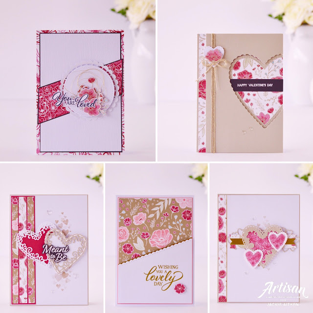 Stampin' Up!, Artisan Design Team 2019, Forever Lovely, All My Love Suite, Valentine's Day Card, Lovely Flowers Edgelits, Meant To Be, Be Mine Stitched Framelits, Jan FB Blog Hop,