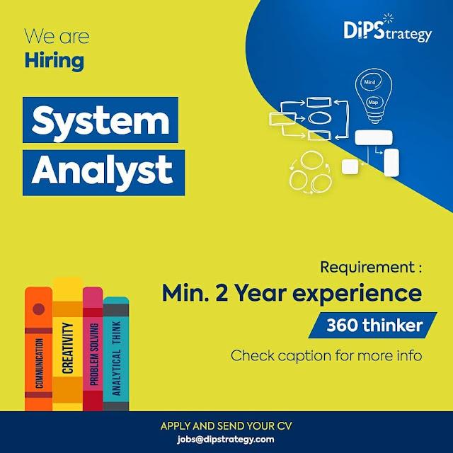 Lowongan Kerja System Analyst