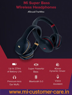 What is the price of MI super bass wireless headphones?