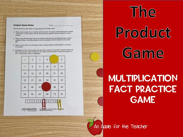 The Product Game - multiplication facts game