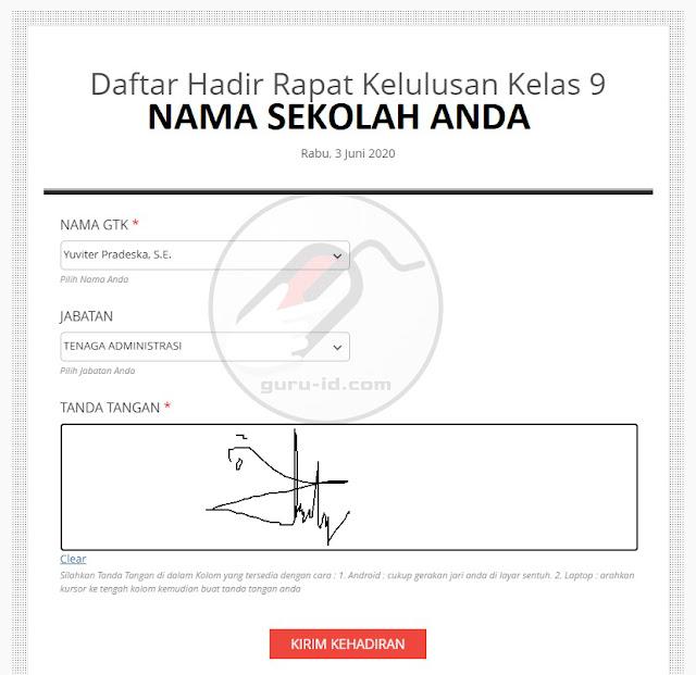 gambar daftar hadir online langsung tanda tangan