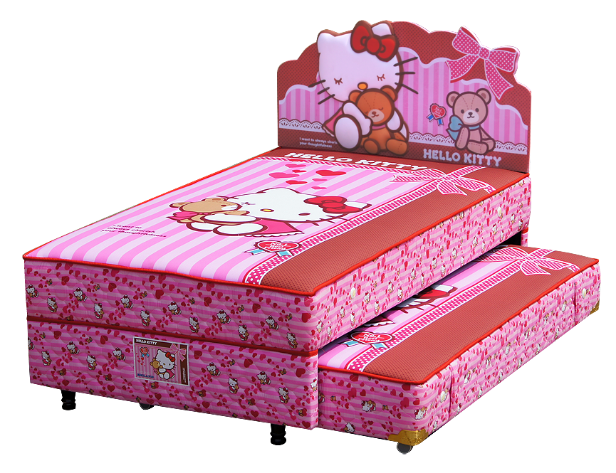 Harga Bigland 2in1 Hello Kitty Best Friends Twin Bed