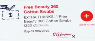 cvs free cotton swabs