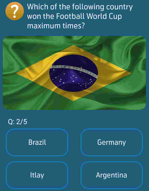 Which of the following country won the Football World Cup maximum times?