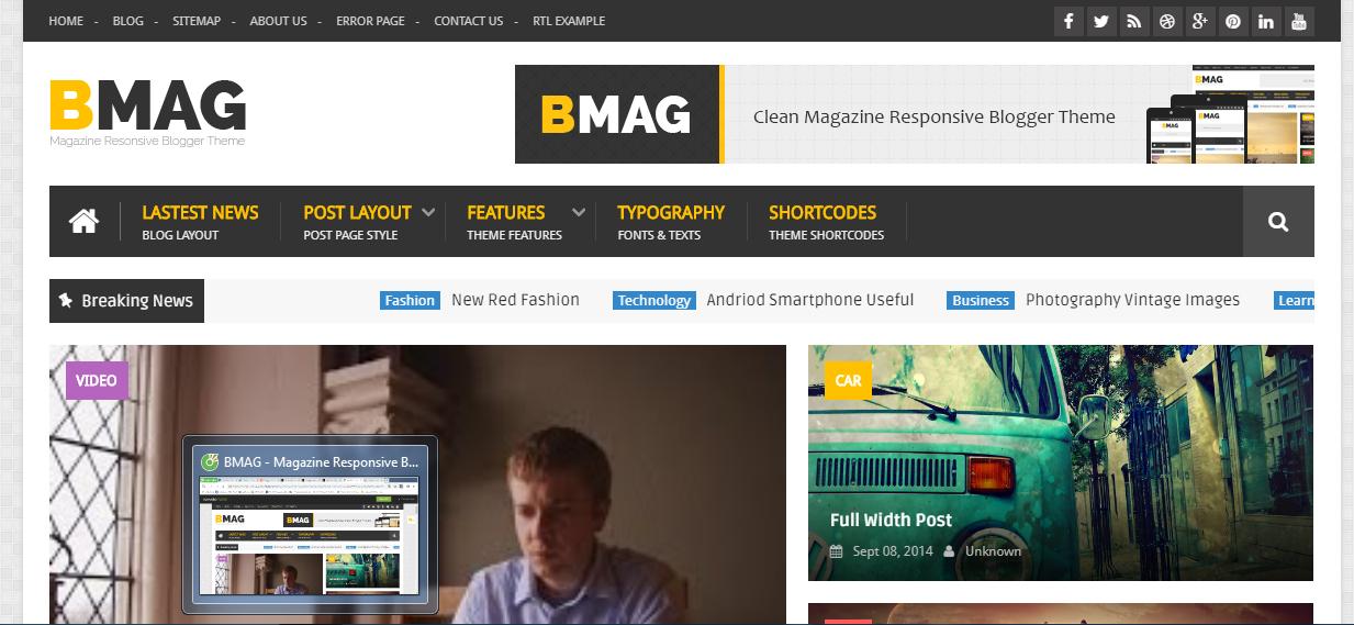 Giao diện blogger BMAG